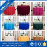 Wedding Textile event use round polyester table cloth for party or banquet made in China                                                                         Quality Choice