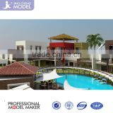 Residence Community Architecture 3d Rendering Drawing for Arabia style house