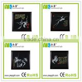 Four flower Gentlemenplum orchid bamboo chrysanthemum pattern Chinese style wood carved activated carbon pictures frame