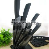 "New Black Blade Ceramic Knife Set Chef Kitchen Knives 3"" 4"" 5"" 6"" + Peeler + Holder"