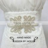 new crystal bridal accessories custom sashes appliques wholesale