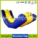 Hot Selling NEVERLAND TOYS Hight Quality Yellow And Purple Inflatable Seesaw Games Used Water Sport Park Equipment