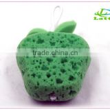 hot sale factory price massage exfoliating shower sponge body rubbing fruit shaped bath sponge for kids