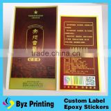 Pressed Powder Label- Multilayer Extended Content Cosmetics Removable Pressed Powder Label