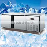 3 door stainless steel under counter freezer,400L Restauratnt Commercial Kitchen counter chiller
