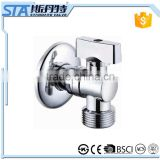 ART.3008 Wholesale Cheap Toilet Bathroom Kitchen Design Wall Mounted Polished Chrome Plated Brass Washing Machine Angle Valve