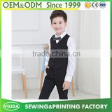 Wholesale boy gentleman suit Tuxedo children's boutique clothing white shirt and vest and pants