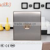 Brushed stainless telephone socket wall plate with CCC,CE certificate