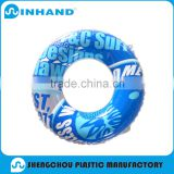 Attractive decorative inflatable pvc swim life buoy ring for kids