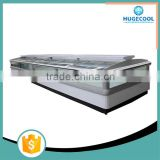 Air cooling supermarket promotional floor display supermarket chest island freezer showcase
