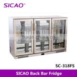 SICAO SC-318FS 3 Doors Stainless Steel Display Back Bar Fridge
