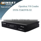 digital set top box hd sex porn video opembox V8 combo dual core turbo decoder support DVB-S2 and DVB-T2.cccam ,newcamd,iptv set