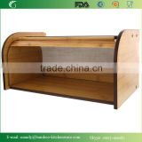 Totally Bamboo Material Food Safe Bamboo Bread Bin from Storage, Hot sale bamboo bread storage box