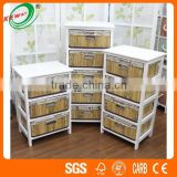 Bamboo Drawing Antique Console White Storage Cupboards