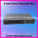 customer call center/caller number display/telephone recording (record max 8 phones)