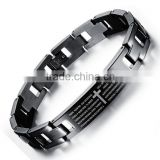 Hot selling !! 316 L Stainless Steel Bracelet Carved Spain Bible & Cross
