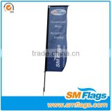 Outdoor advertising car flagpoles holder rectangular flagpoles banner stand