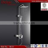 Temperature display led shower, big square shower led shower head, brass shower faucet body internestional standard