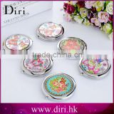 Stainless Steel Double Side Compact Cosmetic Mirror
