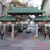 roof tiles green glazed used for Chinatown memorial archway gatedoor building
