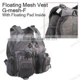 wholesale outdoor floating mesh fly fishing vest
