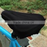 Black Silicone Cycling Bike Bicycle Soft Thick Gel Saddle Seat Cover Cushion Pad