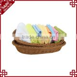 PE rattan handmade weaving customized oval shape for supermarket storage plastic fruit basket