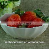 Bulk Stock white Fruit Bowl Cheap Ceramic Bowl ceramic porcelain for kitchen or home decoration