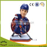 custom 3d plastic hockey bobblehead, personalized Promotional Stadium New York bobblehead doll