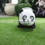 Home garden seats christmas decorative 30cm Height small artificial white and black fiberglass chinese flat Panda E10 28X06