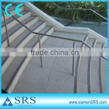 Outdoor grey prefabricated stairs