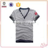 New Arrival Fashion Best Selling Wholesale Cotton Custom Casual Men T Shirt V Neck Top Tees