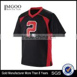 Custom Wicking Soccer Shirt For Youth Raglan Sleeves V Neck Collar Custom Top 100% Polyester Wicking Knit Sport Tee