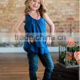 New fashon children clothes Summer cotton Fabric Clothes , Baby gilrs Backless Ruffle tank top
