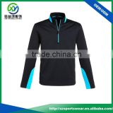 OEM service high quality contrast color 1/4 zipper black color anti-UV gym hoodie / pullover windbreaker