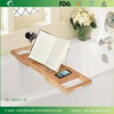 Expendable Deluxe Bamboo Bath Caddy for Bathroom