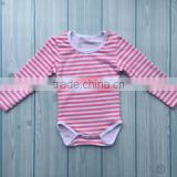 Autumn winter baby clothes rompers wholesale newborn baby cotton onesie striped long sleeve romper for baby girl