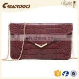 CR More than 11 years experience europe styles crocodile skin rectangel pattern fashion new arrival leather bags in sri lanka