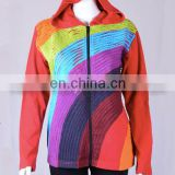 Rainbow Color Cotton Bohemian Hoodies & Jacket CSWJ 445