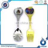 custom souvenir metal silver spoon