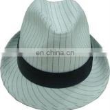 White Fashion Fedora trilby hat. Cotton / polyester fedora hat