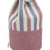 Striped canvas beach bag with cheap price