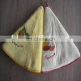 Inquiry About Round white embroidery terry kitchen towel 100% cotton