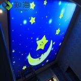 factory supply new interior decoration material led light box uv print sky 3d pvc stretch ceiling film