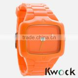 Silicone Material and Unisex Gender own brand Silicone Jelly watch