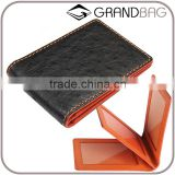 Genuine Ostrich Skin Leather Three Pages Driving License Card Holder Driver License Card Bag
