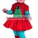 Latest new design Infant princess baby clohthes christmas dress cartoon spieder-man clothes MY-IA0026