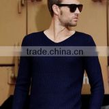 2015 New Arrivals Autumn Men's Clothing 100% Cashmere V Neck Sweater