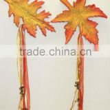 recycled papier/paper mache / paper pulp decorative leaf garland for autumn /home/ garden