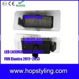 18 SMD No error code with canbus Car license plate lamp for Hyundai Elantra led Auto light